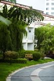 Tropikalny hotel w kurorcie obraz stock