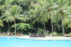 Tropikalny hotelowy basen Zdjęcie Royalty Free