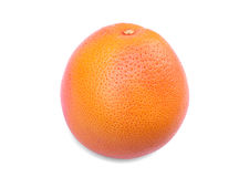 Tropikalny i jaskrawy pomarańczowy grapefruitowy odosobniony na białym tle Doskonale round i cały grapefruitowy pełny witamina C Fotografia Stock