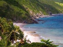 tropikalny idylliczny na plaży Zdjęcie Royalty Free