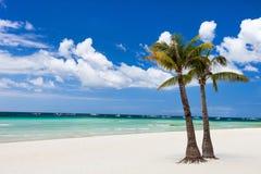 tropikalny idylliczny na plaży zdjęcia stock