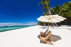 tropikalny idylliczny na plaży obrazy stock