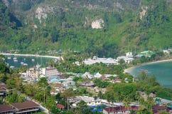 Tropikalny krajobraz. Phi wyspa, Tajlandia. Fotografia Royalty Free