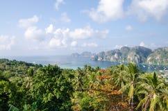 Tropikalny krajobraz. Phi wyspa, Tajlandia. Obraz Royalty Free