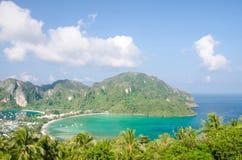 Tropikalny krajobraz. Phi wyspa, Tajlandia. Obrazy Stock