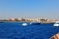 Tropikalny kurort na Czerwonym morzu w Hurghada Zdjęcia Stock