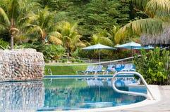Tropikalny kurortu basen. Zdjęcie Royalty Free
