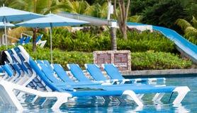Tropikalny kurortu basen. Zdjęcia Royalty Free