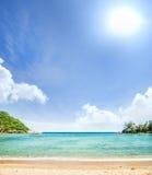 Tropikalny las, denny wybrzeże i góry, Zdjęcia Stock