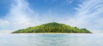 Tropikalny las, denny wybrzeże i góry, Syjamska zatoka, Phangan Fotografia Stock