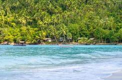 Tropikalny las, denny wybrzeże i góry, Syjamska zatoka, Phangan Zdjęcie Royalty Free