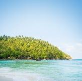 Tropikalny las, denny wybrzeże i góry, Syjamska zatoka, Phangan, Fotografia Stock