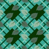 Tropikalny liść w geometrycznego kształta powtórki bezszwowym wzorze, projekcie dla tkaniny, tkaninie, druku lub opakunkowym papi Obrazy Stock