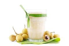 Tropikalny longan smoothie Zdjęcie Royalty Free