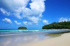 Tropikalny morze, kat plaża Obraz Royalty Free