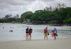 Tropikalny morze w Mauritius wyspie Zdjęcie Stock