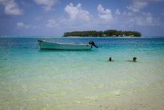 Tropikalny morze w Mauritius wyspie Obrazy Royalty Free