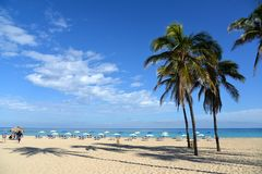 tropikalny na plaży Kuba - Hawańska plaża Zdjęcie Royalty Free