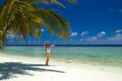 tropikalny na plaży Obraz Royalty Free