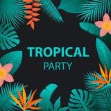 Tropikalny nocy przyjęcia tło ilustracji