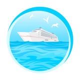 Tropikalny, oceanu, wyspa raj, statek wycieczkowy ilustracji