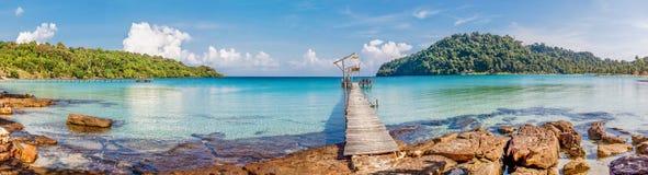 tropikalny panoramy morze obraz stock
