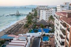 tropikalny park puerto vallarta Najlepszy plaża w Meksyk oceanu Pacific widok Fotografia Royalty Free