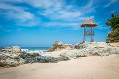 tropikalny park puerto vallarta Najlepszy plaża w Meksyk oceanu Pacific widok Zdjęcia Royalty Free