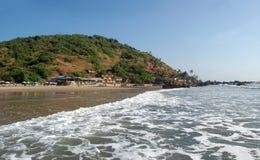 tropikalny plażowy arambol goa zdjęcie stock