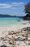 Tropikalny plażowy letniego dnia krajobraz Fotografia Stock