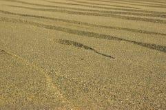 Tropikalny plażowy piasek jako tło Fotografia Royalty Free