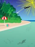 tropikalny plażowy tła miejsce przeznaczenia Zdjęcie Stock