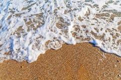 Tropikalny plaży fala zakończenie zdjęcie stock