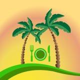 Tropikalny plażowy menu Ilustracja Wektor