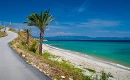 tropikalny plażowy piasek Obrazy Royalty Free