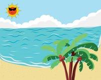 Tropikalny Plażowy sztandar Obrazy Royalty Free