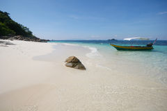 Tropikalny plażowy widok Zdjęcie Stock