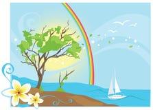 tropikalny popiółu ocean Zdjęcie Royalty Free
