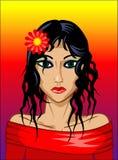 tropikalny portret ilustracja wektor