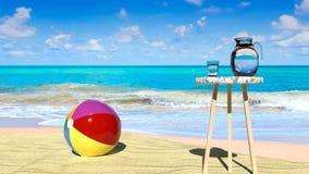 Tropikalny raj, spokój, pokój i relaksuje na pogodnym letnim dniu obraz stock