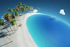 Tropikalny raj, widok z lotu ptaka Fotografia Royalty Free