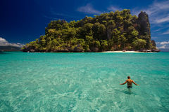tropikalny rajskiej wyspy obrazy stock