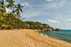 tropikalny rajskiej wyspy plażowy krajobrazu Zdjęcie Stock