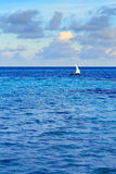 Tropikalny ranku seascape w Maldives Obrazy Stock