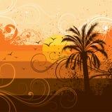 tropikalny tła drzewko palmowe ilustracji