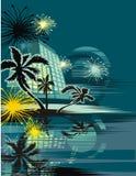 tropikalny tła pejzaż miejski Zdjęcia Royalty Free
