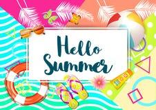 tropikalny tła lato wakacyjny plakatowy Zdjęcie Stock