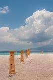 tropikalny ustawienie na plaży obrazy royalty free
