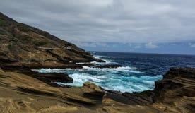 Tropikalny widok, Lanai punkt obserwacyjny, Hawaje Zdjęcia Stock