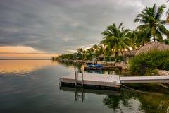 tropikalny wieczór Fotografia Royalty Free